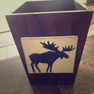 Moose Bathroom Wastebasket